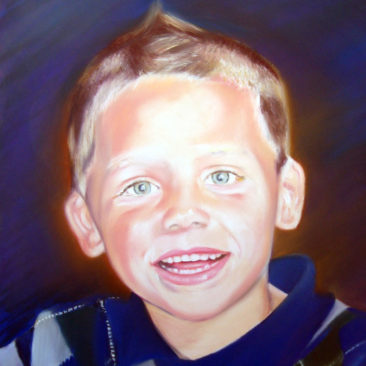 Little Boy Pastel Portrait by Artist Bonnie Lee Turner was Hand Painted on Pastel Board and features an adorable young man from Lincoln, Rhode Island