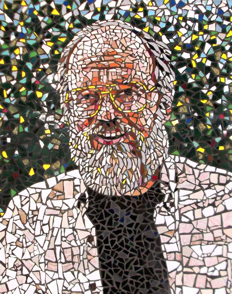 Tile Mosaic Portrait Hand Crafted By Artist Bonnie Lee Turner - Ceramic and glass tile store