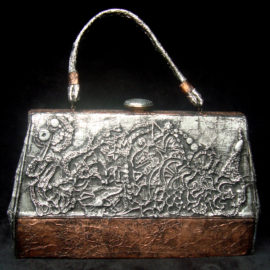 'Mexico' Metallic Handbag by Artist Bonnie Lee Turner