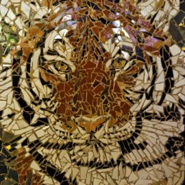 Tiger Mosaic by Artist Bonnie Lee Turner