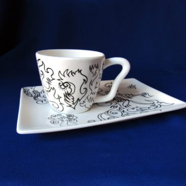 'Stylish Cup and Saucer' by Artist Bonnie Lee Turner