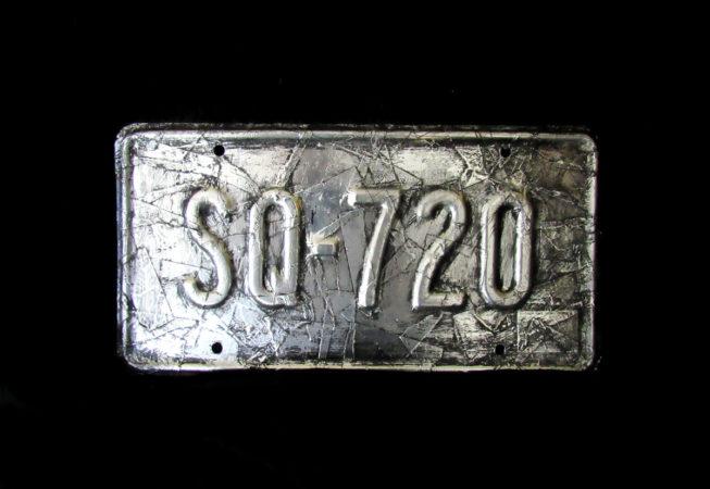 "'SQ -720' Mixed Media, 12"" x 6"", 2015 by Bonnie Lee Turner"