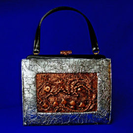Equal Pay, Metallic Handbag, Mixed Media, 2016, by Artist Bonnie Lee Turner