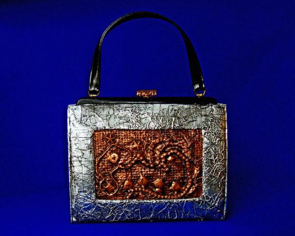 Equal Pay, Metallic Handbag, Mixed Media, 2016, by Artist Bonnie Lee Turner