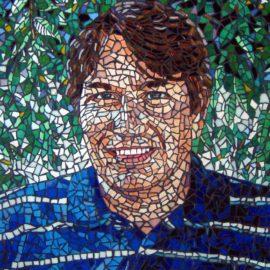 Mosaic Portrait, 18″ x 24″, Glass Tile, by Artist Bonnie Lee Turner