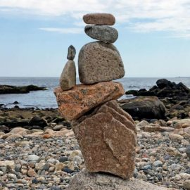 Mother and Child Rock Sculpture